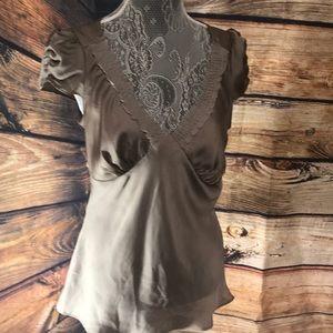 Ann Taylor Loft blouse size 8 . Color Tan